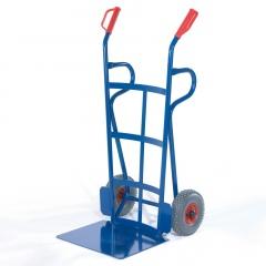 Rollcart Reifenkarre mit Rückwand aus Flacheisen Schaufelbreite 500mm Vollgummi/Luft
