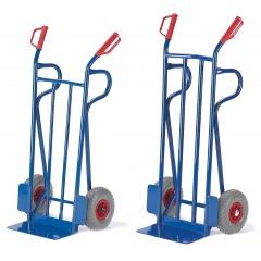 Rollcart Sackkarre -962/964- mit Rückwand aus Flachstahl 1200-1250mm hoch Schaufelbreite 400mm Vollgummi/Luft