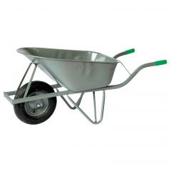 Rollcart Schubkarre aus Stahlrohr mit Luftrad und runder Stahlmulde 80l Volumen