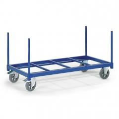 Rollcart Schwerer Rungenwagen offen mit Boden aus Stahlrohr 1200kg Tragkraft