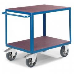 Rollcart Schwerer Tischwagen mit 2 Ladeflächen aus Siebdruckplatten 1200kg Tragkraft