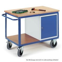 Rollcart Werkstattwagen mit Stahlschrank 600kg Tragkraft