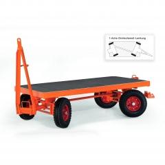 Rollcart Industrieanhänger mit 1-Achs- Drehschemel- Lenkung 2000-5000kg Tragkraft Vollgummi/Luftbereifung