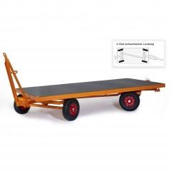 Rollcart Industrieanhänger mit 4-Rad- Achschenkel- Lenkung 2000-5000kg Tragkraft Vollgummi/Luftvereifung