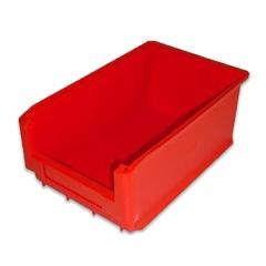 Rollcart Sichtlagerkasten in rot mit 23l Inhalt 500x320x200mm