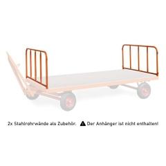 Rollcart 2 Stahlrohrwände, steckbar 750mm hoch für Industrieanhänger als Zubehör