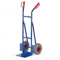 Rollcart kleine Stapelkarre aus Stahlrohr 300mm Schaufelbreite Vollgummi/Luft