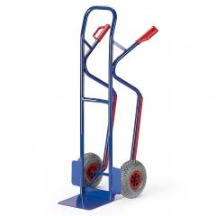 Rollcart Stapelkarre mit Treppenrutschkufen aus Stahlrohr Vollgummi/Luft