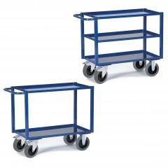 Rollcart Tischwagen mit 2-3 Blechwannen 400kg Tragkraft