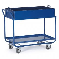 Rollcart Tischwagen mit 2 Blechwannen 300kg Tragkraft