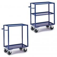 Rollcart Tischwagen, hoch mit 2-3 Blechwannen 400kg Tragkraft