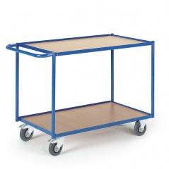Rollcart Tischwagen mit 2 Etagen im Buchendekor 990x590mm