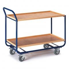 Rollcart Tischwagen mit 2 Etagen 1000x575mm Buchedekor 20mm Rand