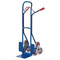 Rollcart Stahlrohr-Treppenkarre, mit dreiarmigen Radsternen, Schaufelbreite 300mm