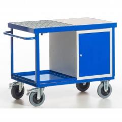 Rollcart Umwelt-Werkstattwagen mit Tischwanne und Abstellwanne