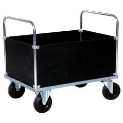 Rollcart Vierwandwagen, verzinkt mit beschichteter Holzwerkstoffplatte 500kg Tragkraft