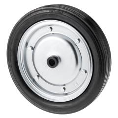 Rollcart Vollgummi-Rolle Ø400x75mm mit Stahlfelge 450kg Tragkraft