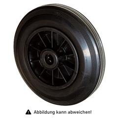 Rollcart Vollgummi-Rolle Ø125x37mm in schwarz 100kg Tragkraft