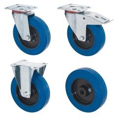 Rollcart Elastik-Rollen in blau mit Kunststoff-Felge