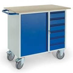 Rollcart Montagewagen mit 6 Schubladen und Stahlschrank