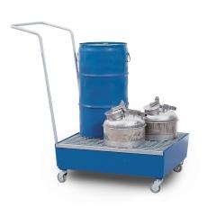 R+R Industrietechnik fahrbare Auffangwanne RFW-S1 für 2x60l Fässer RAL 5010 Enzianblau