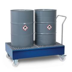 R+R Industrietechnik fahrbare Auffangwanne aus Stahl RFW-S für 60/200l Fässer