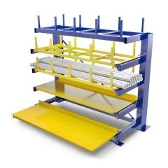 R+R Industrietechnik Schubfachregal für Langgut RRL mit 5 Lagerebenen