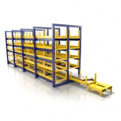 R+R Industrietechnik Wabenauszugsregal RWA 2x5 Fächer