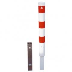 Schake Absperrpfosten herausnehmbar aus Stahlrohr Ø89x2,9mm mit Stahlkappe 900mm Überflur