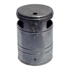 Schake Abfallbehälter mit Ascher 40l Volumen Ø340mm