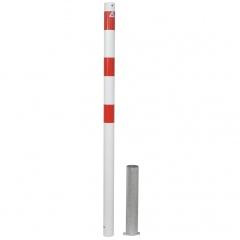 Schake Absperrpfosten herausnehmbar aus Stahlrohr Ø60x2,5mm mit Stahlkappe 900mm Überflur