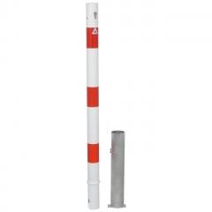 Schake Absperrpfosten herausnehmbar aus Stahlrohr Ø60x2,5mm mit Stahlkappe und Profilzylinderschloss 900mm Überflur