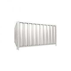 Schake Mobilzaun Trapez 2,2x1,2m mit Stahlblechfüllung, rot