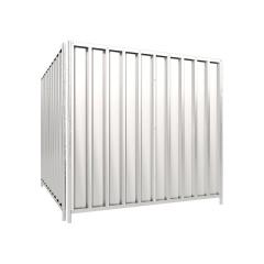 Schake Mobilzaun Trapez 2,2x2m mit Stahlblechfüllung