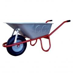 Schake Schubkarre Allcar, Stahlrohr mit Luftrad, verzinkte/PP-Mulde, 85-100l