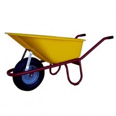 Schake Schubkarre Allcar, Stahlrohr mit Luftrad, 100l, PP-Mulde, unmontiert