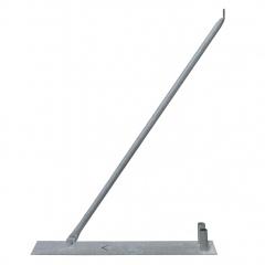 Schake Mobilzaun-Stützstrebe für 2,00m Bauzaun inkl. Bodenplatte