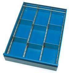 Fetra Schubladen-Einteilungs-Set aus verzinktem Stahlblech für Schubladenschränke