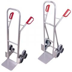 VARIOfit Aluminium Treppenkarre 200kg Tragkraft mit 2 dreiarmigen Radsternen