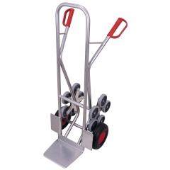 VARIOfit Aluminium Treppenkarre 200kg Tragkraft gerade Streben mit 2 fünfarmigen Radsternen