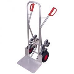 VARIOfit Aluminium Treppenkarre 200kg Tragkraft große Schaufel mit 2 fünfarmigen Radsternen