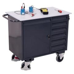VARIOfit ESD Werkstattwagen mit Schrank und 6 Schubladen