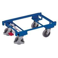 VARIOfit Euro-System-Roller mit EasySTOP, Eckhülsen ohne Boden 605x410mm