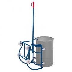 VARIOfit Fasskipper 250kg Traglast mit Hebelstange, Fassauflage mit 4 Kunststoffrollen