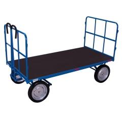 VARIOfit Handpritschenwagen mit 2 Rohrgitterwänden und Vollgummibereifung 1140x800mm