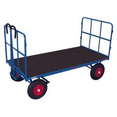 VARIOfit Handpritschenwagen mit 2 Rohrgitterwänden, bis 1250kg Traglast Luft-/ Vollgummibereifung