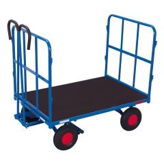 VARIOfit Handpritschenwagen mit 2 Rohrgitterwänden und Luft-/ Vollgummibereifung