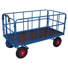 VARIOfit Handpritschenwagen mit 4 Rohrgitterwänden, bis 1250kg Traglast Luft-/ Vollgummibereifung