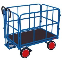 VARIOfit Handpritschenwagen mit 4 Rohrgitterwänden und Vollgummibereifung 1140x800mm