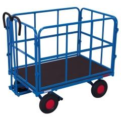 VARIOfit Handpritschenwagen mit 4 Rohrgitterwänden und Luft-/ Vollgummibereifung